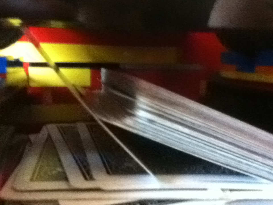 The cards stacking improperly